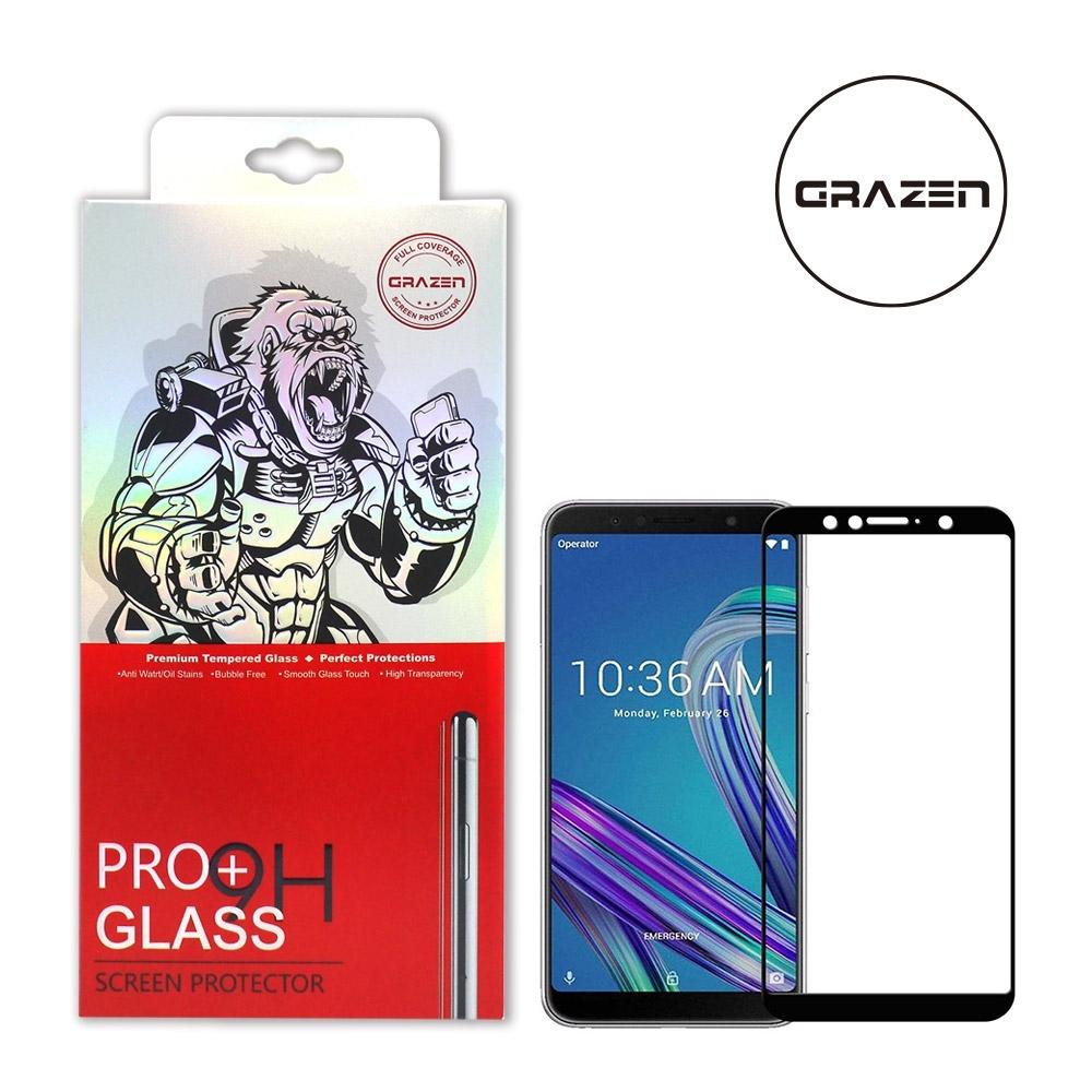 【格森GRAZEN】華碩 ZENFONE MAX PRO/ZB602KL滿版(黑)鋼化玻璃