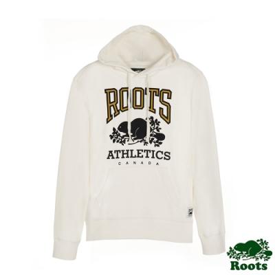 男裝Roots-復古原創連帽上衣-白