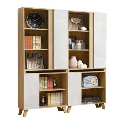 D&T德泰傢俱 JOYE清水模風格5.3尺組合書櫃-160x32x181cm