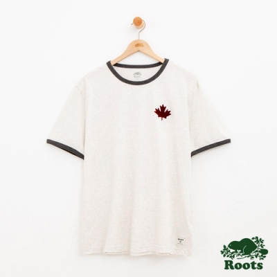 男裝Roots 度假小屋短袖T恤-白