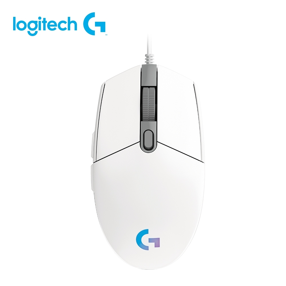 羅技 G102 炫彩遊戲滑鼠(黑白可選) product image 1