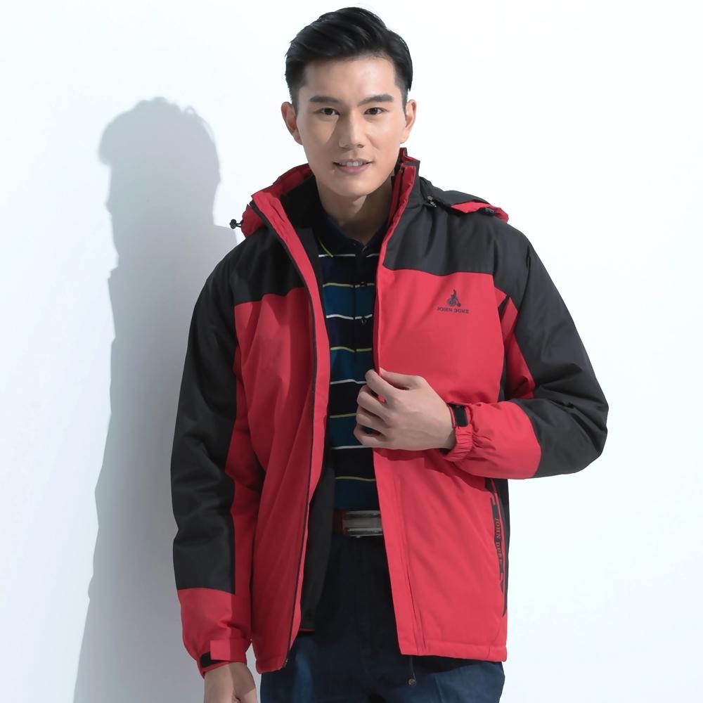 JOHN DUKE都會休閒保暖防風防潑水外套紅色(22-5K1252)