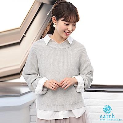 Green Parks 【SET ITEM】簡約襯衫+素面針織圓領上衣
