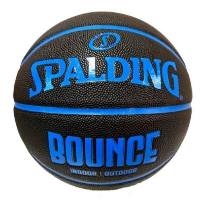 SPALDING 斯伯丁 NBA Bounce 合成皮 7號籃球 黑藍