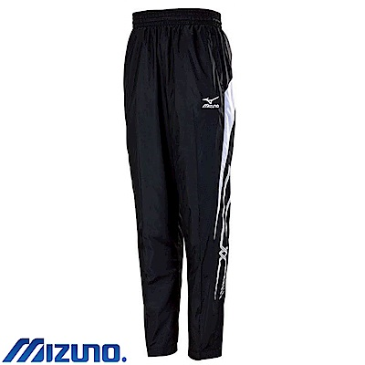MIZUNO 美津濃 男風衣套裝褲子 黑X白 32TF758990