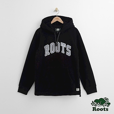 Roots 男裝- 經典連帽上衣-黑