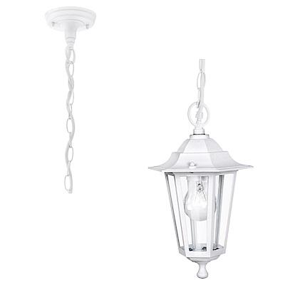 EGLO歐風燈飾 經典白造型玻璃吊燈/玄關燈(不含燈泡)