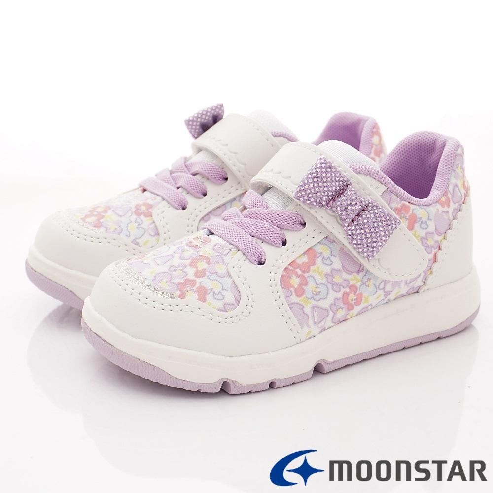 日本Carrot機能童鞋 小碎花2E運動鞋 TW2371白(中小童段)