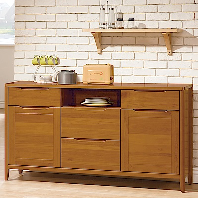 H&D 米堤柚木色5尺餐櫃
