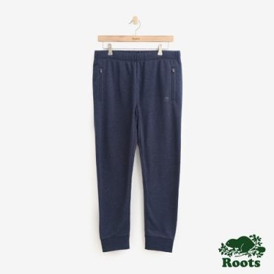 ROOTS 男裝- 江克遜毛圈布棉質長褲-藍