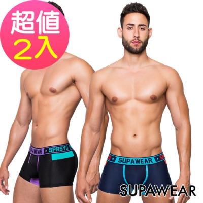 SUPAWEAR-魔鬼終結者男四角內褲(2入組隨機)