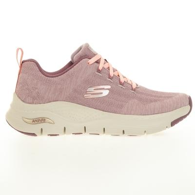 SKECHERS ARCH FIT 女慢跑鞋-粉-149414MVE