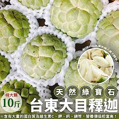【天天果園】台東特大顆釋迦X10台斤(約10~12顆)
