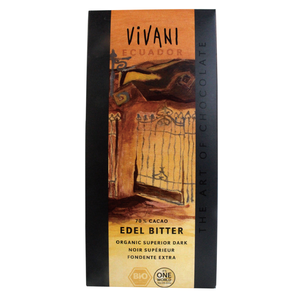 Vivani 有機厄瓜多70%黑巧克力片(100g)