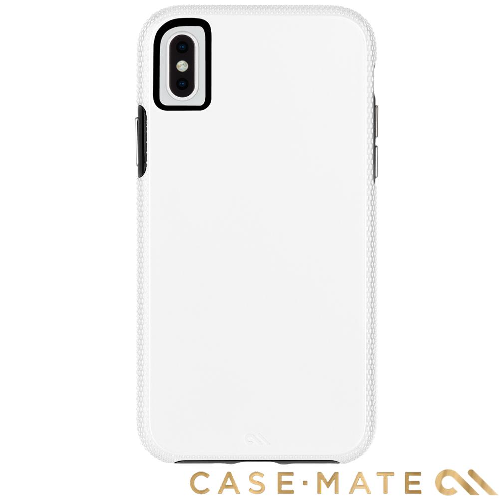 美國Case-Mate iPhone XS Max Tough Grip 防摔殼-白/黑