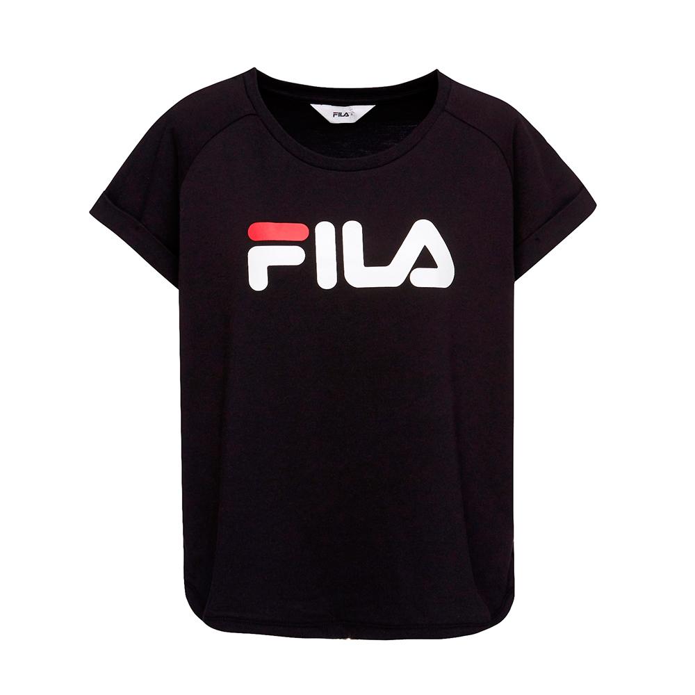 FILA 女款短袖圓領T恤-黑色 5TET-1505-BK