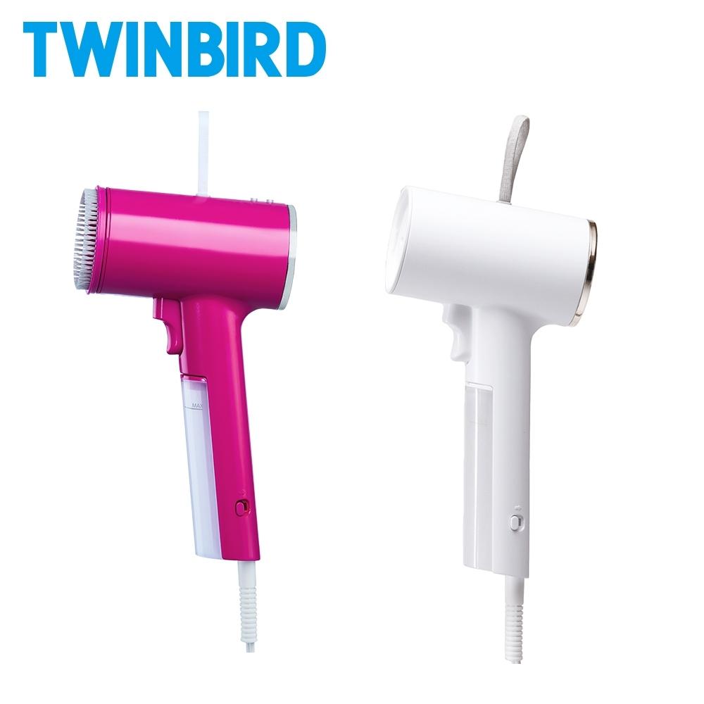 【成雙成對組】日本TWINBIRD-高溫抗菌除臭 美型蒸氣掛燙機TB-G006TW(桃紅+白)