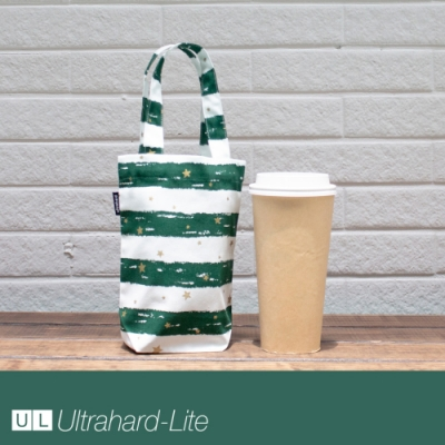 Ultrahard-Lite togo環保飲料袋(長版) - 條紋星星(綠)