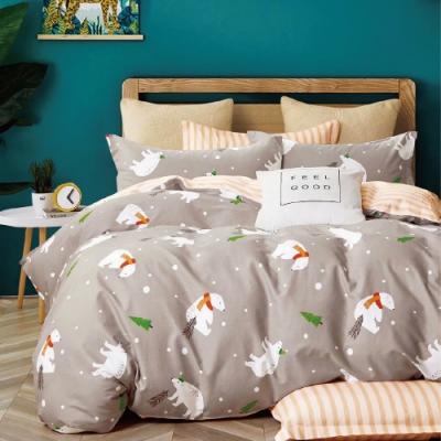 (贈保潔墊枕套1入) A-ONE 100%純棉-被套床包組台灣製-單/雙/大 均一價