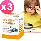 晶采葉黃素-專利益生菌&DHA(專為學齡兒童設計)3盒組