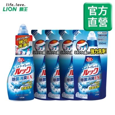 日本獅王LION 馬桶清潔劑 450mlx1入+350mlx4入組