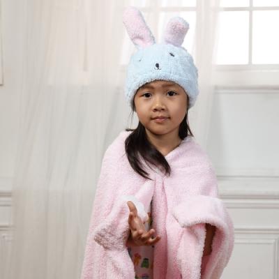 【MORINO摩力諾】超細纖維動物造型速乾兒童浴帽 毛帽(兔子)