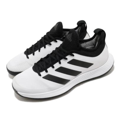 adidas 網球鞋 Defiant Generation 男鞋 愛迪達 襪套式 緩衝 耐磨 白 黑 FX5809