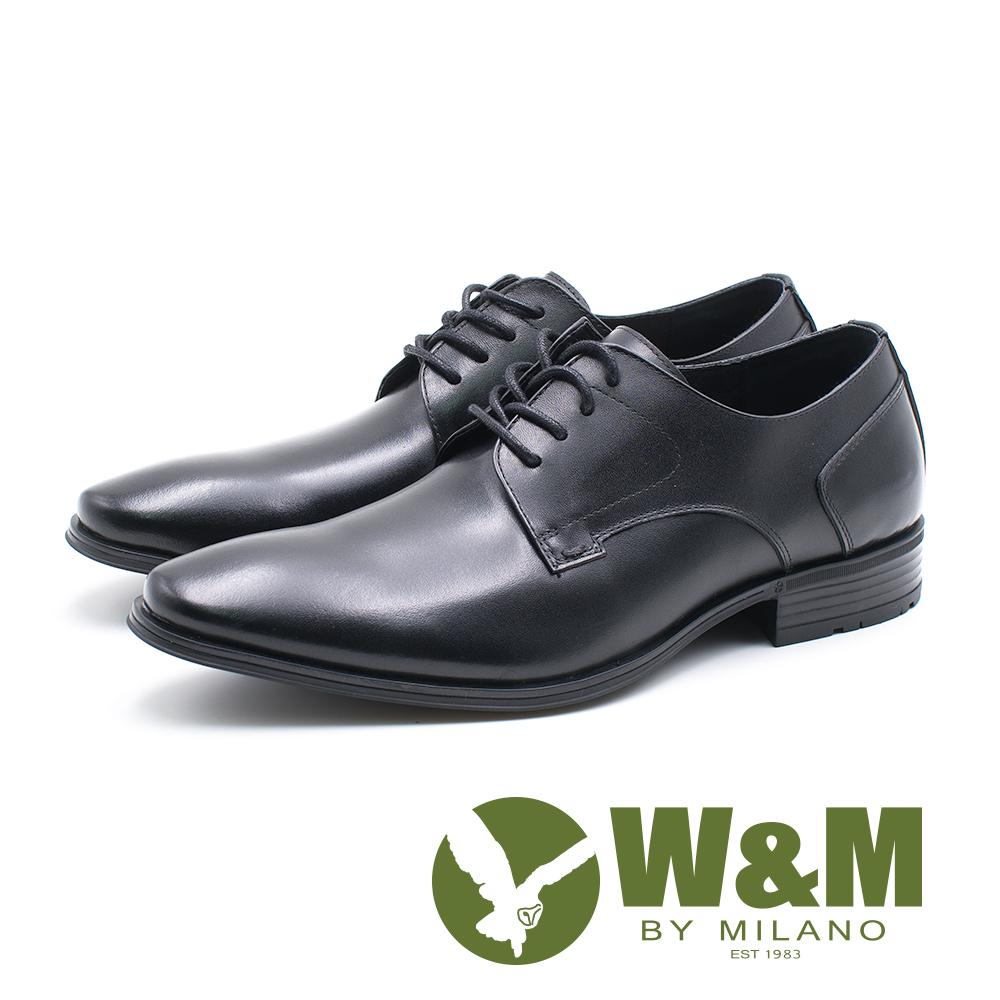 W&M 真皮素面繫帶德比鞋 男鞋 - 黑 (另有棕)