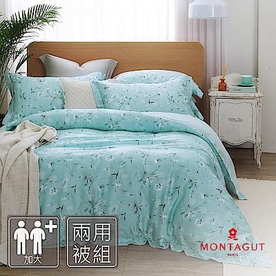 MONTAGUT-雨後的草地-100%天絲-四件式兩用被床包組(加大)