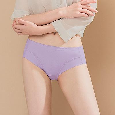 無痕透氣超健康竹炭包臀中腰M-XL內褲 紫羅蘭色 可蘭霓Clany