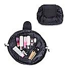 DF生活趣館 - 韓風抽繩多功能懶人化妝收納包-黑色