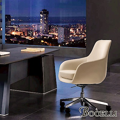 BOCELLI-ARTE藝術風尚中背辦公椅(義大利牛皮)優雅米