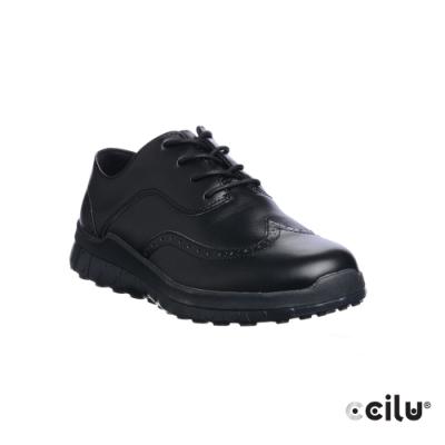 CCILU 皮革運動休閒鞋-男款-301297001黑色