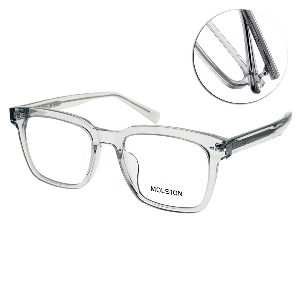 MOLSION 光學眼鏡 肖戰代言 元氣鏡 /透黑 #MJ3039 B12