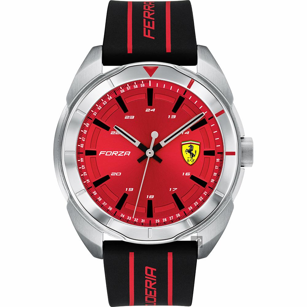 Scuderia Ferrari 法拉利 FORZA 競速手錶-紅x黑/44mm