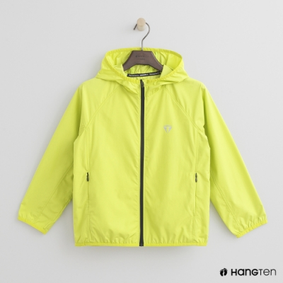 Hang Ten-童裝-ThermoContro-輕薄連帽機能外套-綠