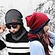 防風保暖圍脖套頭帽二件組