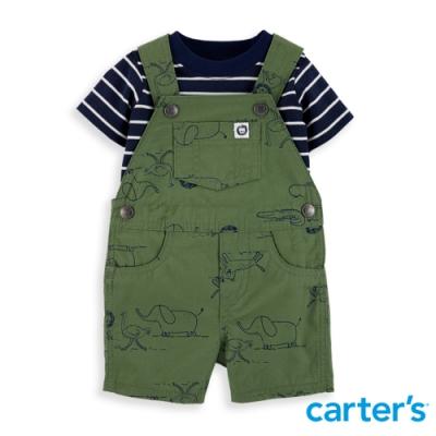 【Carter's】 動物繪本拼貼綠色2件組套裝(6M-24M) 任選 (台灣總代理)