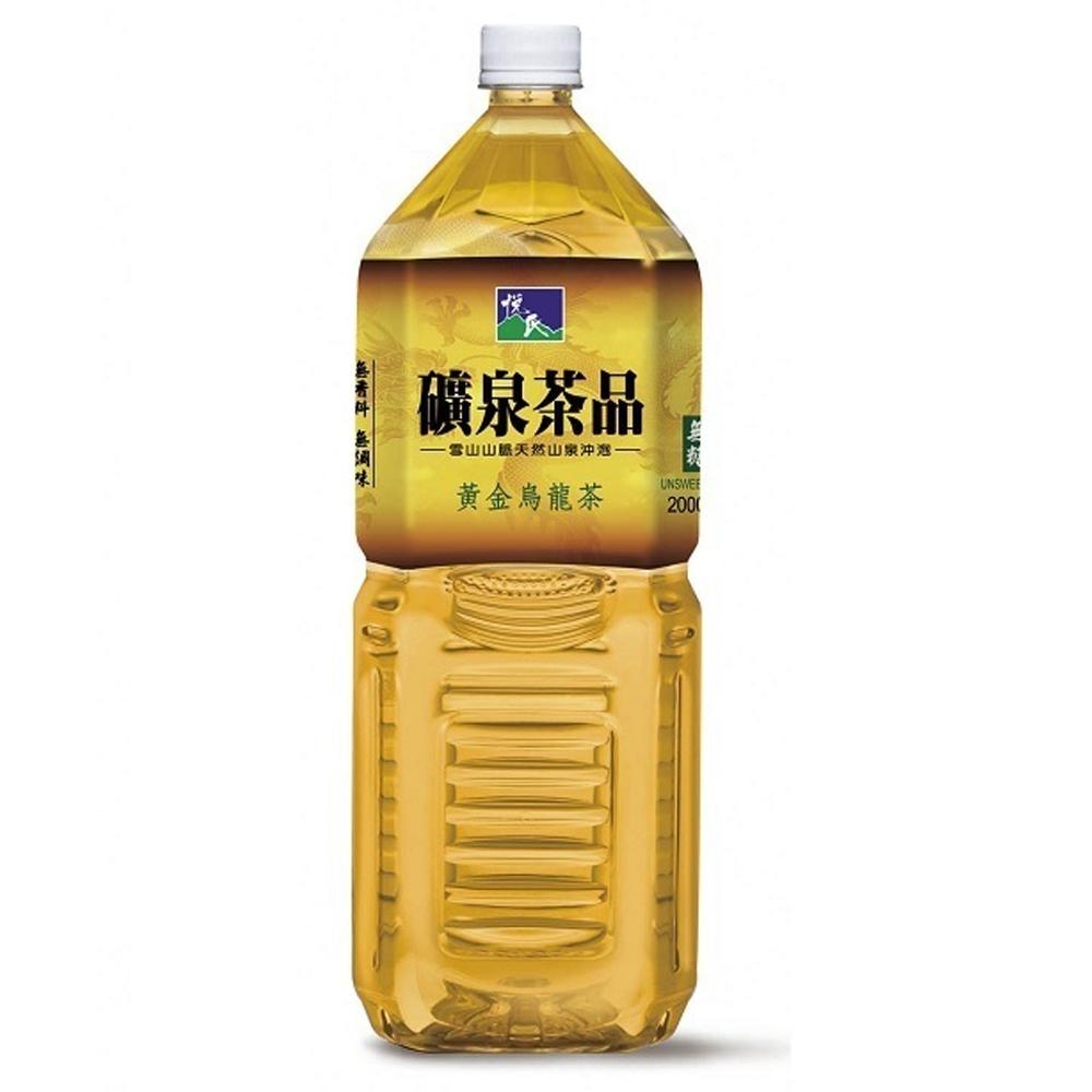 悅氏 黃金烏龍茶-無糖(2000ml)