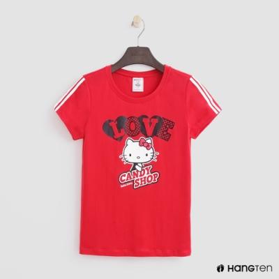 Hang Ten - 女裝 - Sanrio-love設計圖樣短袖T - 紅