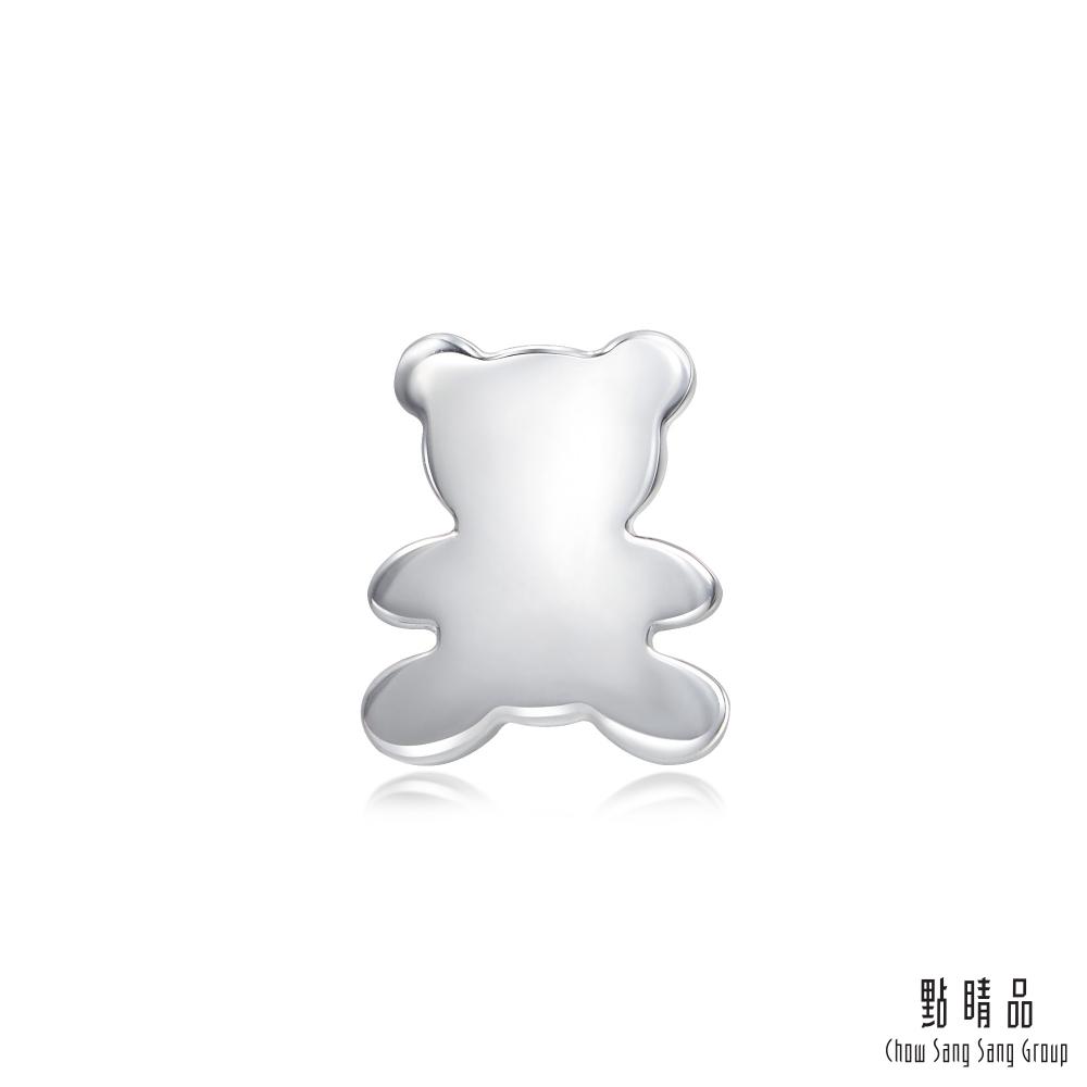 點睛品 Ear Play 鉑金可愛小熊單邊耳環