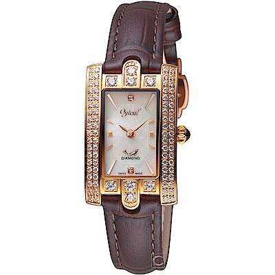 Ogival愛其華高貴典雅真鑽腕錶(380-37DLR)-玫瑰金色