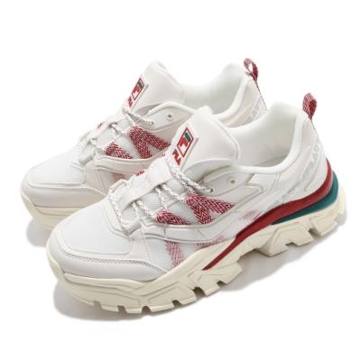Fila 休閒鞋 Z Buffer 2 厚底 男女鞋 斐樂 老爹鞋 穿搭 修飾 皮革 米 紅 4C353V236