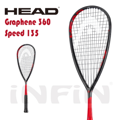 【HEAD】壁球拍 GRAPHENE 360 SPEED 135g 黑/紅 211029