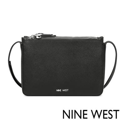 福利品 NINE WEST PROSPER雙層拉鍊小方包-黑色