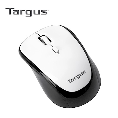Targus AMW62001 無線藍光四鍵滑鼠-白武士