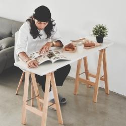 Home Feeling 工作桌/書桌/邊桌/餐桌-120X40X72cm-DIY