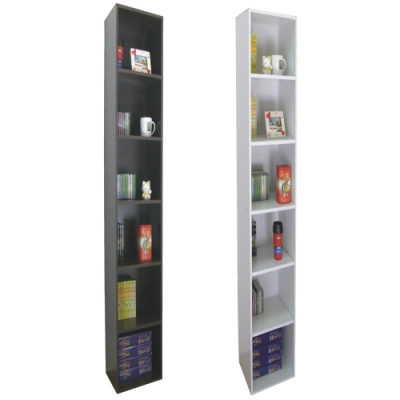 頂堅 六層間隙防潮書櫃 置物櫃 收納櫃-寬24x深30.3x高180/公分-二色