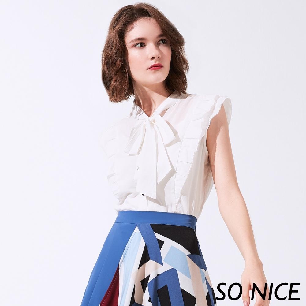 SO NICE優雅俏麗綁結造型襯衫