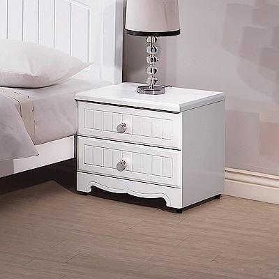 AS-伊森白色床頭櫃-49x43x46cm